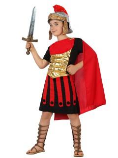 Mutiger Römer Kinderkostüm Krieger schwarz-rot