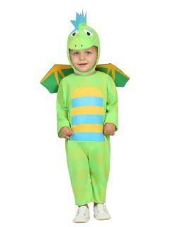 Kleiner Drache Babykostüm Dinosaurier grün