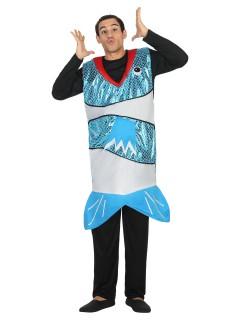 Lustiger Fisch Kostüm Tierkostüm blau