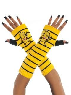 Pokémon Handschuhe Pikachu fingerlos Lizenzware schwarz-gelb