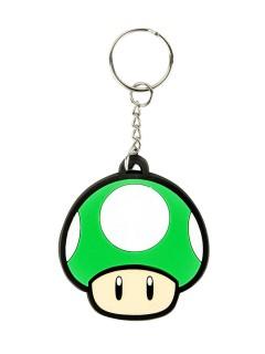 Nintendo-Retro-Schlüsselanhänger 1UP Lizenzware grün 5cm