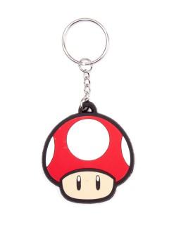 Nintendo™ Retro Schlüsselanhänger rot-beige 6cm