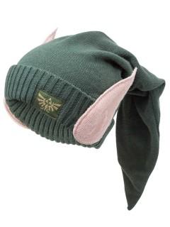 Zelda™-Mütze mit Elfenohren grün-hautfarben
