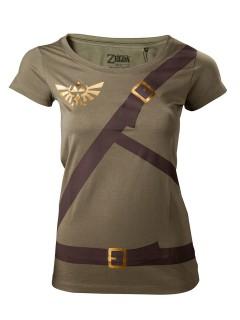 Zelda™ Girlie-Shirt Link Lizenzprodukt grün-braun