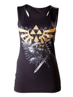 The Legend of Zelda™-Tank Top für Damen schwarz-weiss-goldfarben