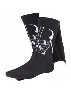 Darth Vader-Socken mit Umhang Star Wars-Lizenzartikel schwarz
