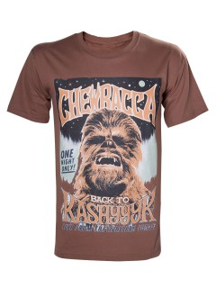 Chewbacca™-T-Shirt Star Wars™ schwarz-weiss-braun