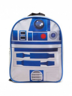 R2D2-Rucksack für Kinder Star Wars-Fanartikel weiss-blau