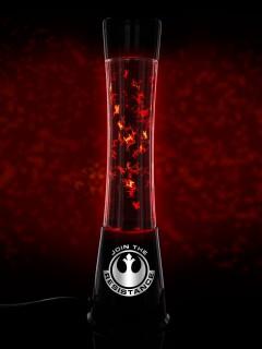Star Wars Lava-Lampe Glitzer Leuchte Lizenzware schwarz-rot 40cm (Bundle)