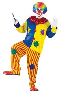 Lustiger Clown Spassmacher übergrössen Kostüm bunt