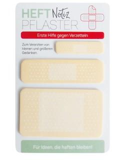 Heftpflaster Haftnotiz Memo 60 Stück beige-weiss