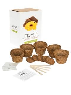 Schokoladen Pflanzenzucht-Set 5-teilig bunt 8x7x9cm