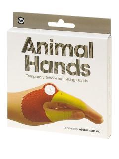 Hand-Tattoos Tiergesichter 8 Stück bunt