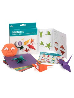 Origami Set Bastelset Natur 101-teilig bunt