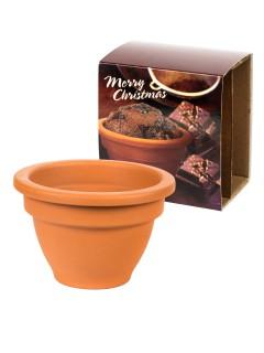Weihnachts-Muffin im Tontopf Back-Set 2-teilig bunt