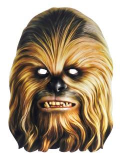Star Wars Chewbacca Maske Lizenzware braun