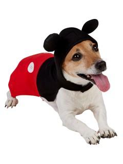 Mickey Mouse Hundekostüm Lizenzware schwarz-rot