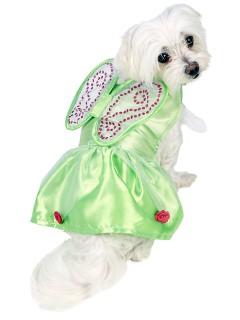 Disney Tinker Bell Hundekostüm Lizenzware grün
