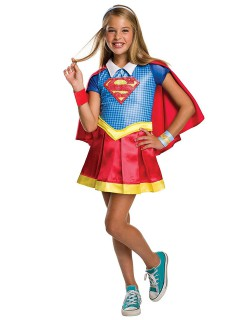 DC Super Hero Girls Supergirl Deluxe Kinderkostüm Lizenzware bunt