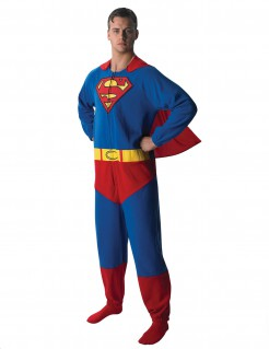 DC Superman Jumpsuit-Kostüm Lizenzware blau-rot-gelb