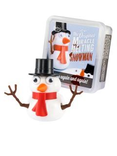 Schmelzender Schneemann Knetfigur weiss-bunt