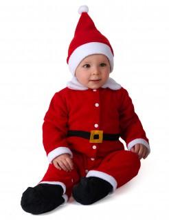 Weihnachtsmann-Babykostüm Weihnachtskostüm rot-weiss