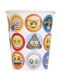 Papp-Trinkbecher Emoji™ 8 Stück bunt 270 ml