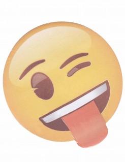 Emoji™ Notizblock 50 Blatt Lizenzware gelb 7cm