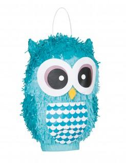 Eule Piñata blau