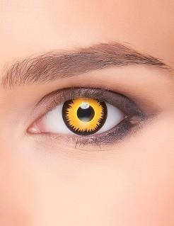 Löwen-Kontaktlinsen gelb-schwarz