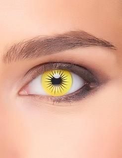 Kontaktlinsen Stern gelb