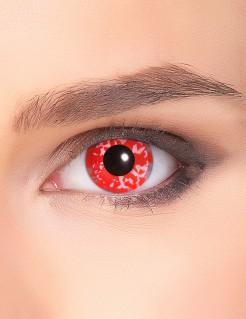 Horror-Kontaktlinsen Farbmuster rot