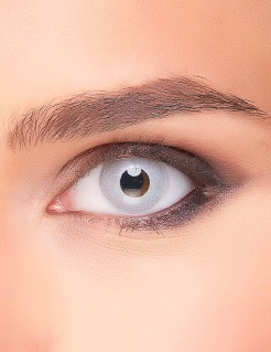 Spiegel-Kontaktlinsen silber 14,5mm