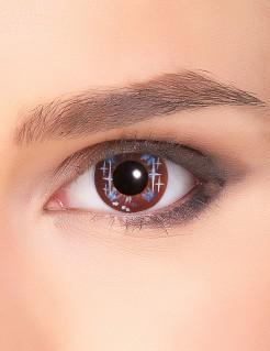 Kontaktlinsen mit Stern-Motiv braun-blau-weiss