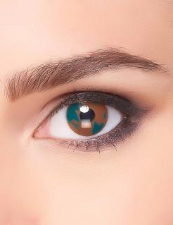 Tarnfarben-Kontaktlinsen Camouflage braun-grün