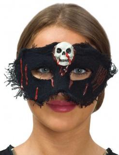 Halloween-Damenmaske mit Totenschädel