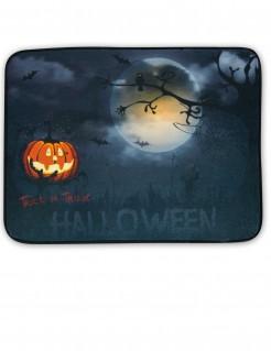 Halloween-Fussmatte Grusellandschaft mit Licht und Sound grau
