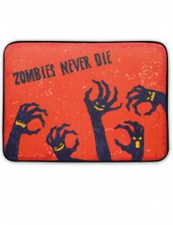 Halloween-Fussmatte Zombiehände mit Licht und Sound rot-schwarz