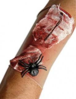 Horror-Wundenapplikation mit Spinne