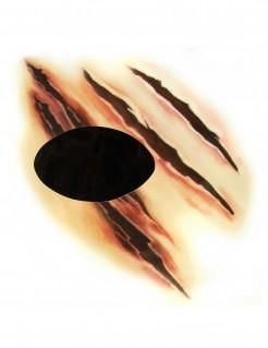 Werwolf-Tattoo für die Augen Halloween-Makeup hautfarben-braun