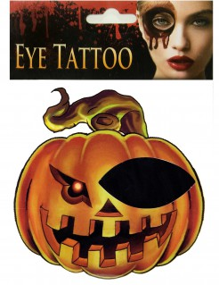 Kürbis-Tattoo Augen-Tattoo für Halloween orange