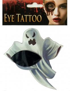 Gespenster-Tattoo Halloween-Gesichtstattoo Geist grau