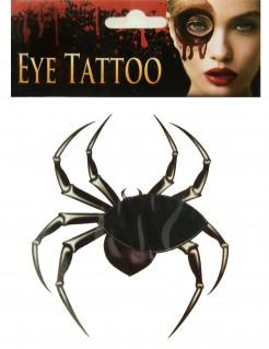 Spinnen-Tattoo Augen-Tattoo für Halloween schwarz