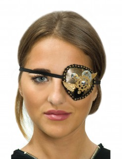 Steampunk-Augenklappe mit Zähnen
