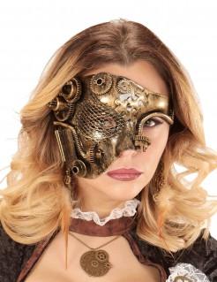 Steampunk-Halbmaske gold