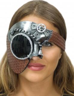 Steampunk-Halbmaske für Damen silber