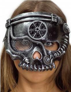 Steampunk-Skelettmaske silber