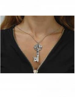 Schlüssel-Kette Accessoire für Damen silber