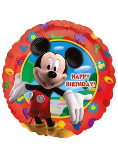 Mickey Mouse™ Happy Birthday Luftballon für Kindergeburtstage Partydeko bunt 43cm
