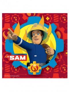 Papierservietten Feuerwehrmann Sam 20 Stück rot